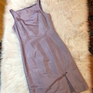 Ann Taylor 100% Silk Lilac Dress Sz 4